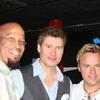 In the UK with Michael Lington (c) and Steve Oliver (r)